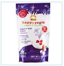 Nurture Inc. (Happy Baby), happyyogis, 酸奶和水果点心,混合浆果,1盎司(28克)