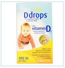 D Drops, 宝贝,液体维生素D3,400 IU,0.08液体盎司(2.5毫升)
