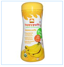 Nurture Inc. (Happy Baby), happypuffs, Organic Puffs, Finger Food for Babies, Banana Puffs, 2.1 oz (60 g)