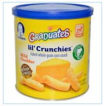 Gerber, 毕业生Lil' Crunchies,轻度切达,1.48盎司(42克)