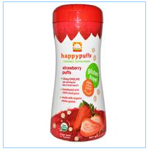 Nurture Inc. (Happy Baby), Happypuffs, Organic Superfoods, Strawberry Puffs, 2.1 oz (60 g)