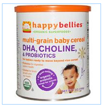 Nurture Inc. (Happy Baby), Happybellies, Multi-Grain Baby Cereal, DHA, Choline, & Pre & Probiotics, 7 oz (198 g)
