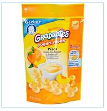 Gerber, Graduates桃味酸奶溶豆,1盎司(28克)