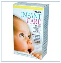 Twinlab, 婴儿护理,含DHA多维生素滴剂,1 2/3液量盎司(50毫升)