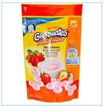 Gerber, Graduates草莓酸奶溶豆,1盎司(28克)
