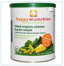 Nurture Inc. (Happy Baby), Happymunchies,有机烘烤奶酪&谷物,婴儿零食,西兰花甘蓝&切达奶酪,1.63盎司(46克)