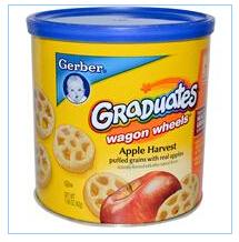 Gerber, 苹果味车轮饼干,1.48盎司(42克)食品