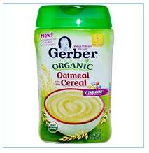 Gerber, 有机燕麦米粉,全谷物,8盎司(227克)