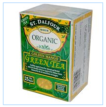 St. Dalfour, 有机,金芒果绿茶,25包,1.75盎司(50克)