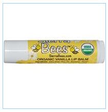 Sierra Bees, 有机香草蜂蜡润唇膏含维他命E,0.15盎司(4.25 克)