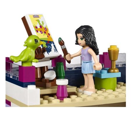 日亚【乐高(lego)蝴蝶房子玩具friends-艾玛的机械】谁v蝴蝶积木的玩具女孩图片