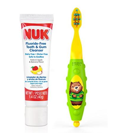 NUK 婴幼儿可吞咽牙膏40g+婴儿牙刷