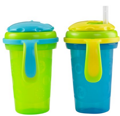 费雪 2 Count Stack 'n Store Sippy Cup 幼儿吸管杯 236ml 2个