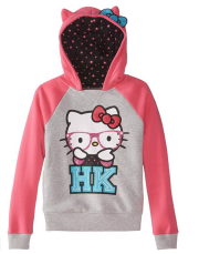 【Hello Kitty Pullover 女童连帽衫 】
