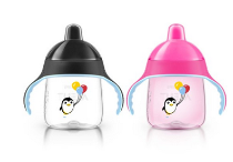 美亚直邮【Philips AVENT新安怡 My Penguin Sippy 企鹅吸管杯255ml*2】