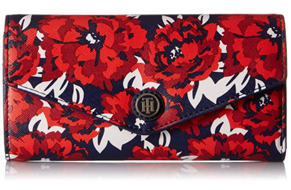 【Tommy Hilfiger 女款 TH Floral 手拿钱包】