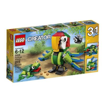 乐高creator创意系列热带雨林动物(215块颗粒)