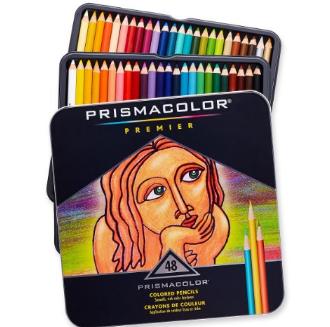 Prismacolor 优质软芯彩色铅笔 48色
