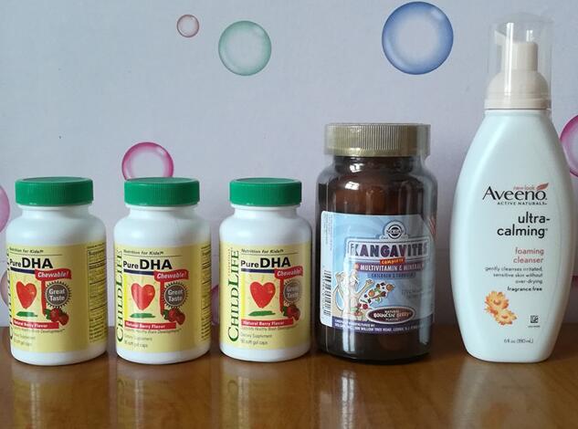 晒单:艾维诺洁面乳、Solgar儿童多维、童年时光DHA