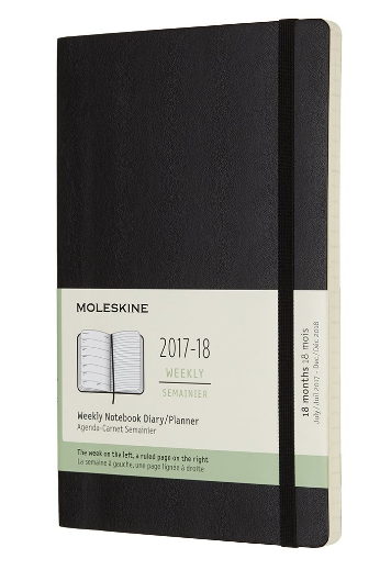 超低价 Moleskine18月大号笔记本 手帐本