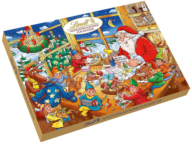 快抢!#亚马逊海外购#Lindt瑞士莲 圣诞日历倒数巧克力礼盒 280g