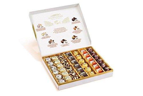 吃货福利!#亚马逊海外购#Ferrero费列罗 金色画廊42件豪华巧克力 401g