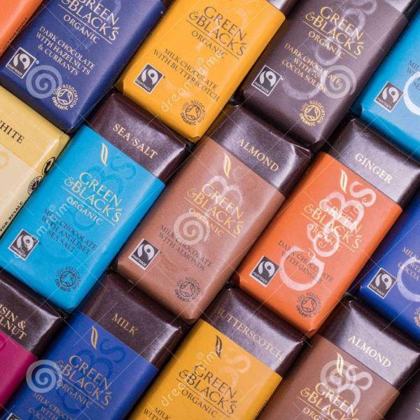 吃货福利!#亚马逊海外购#Green & Black's Organic 37%可可 牛奶杏仁巧克力100g*10排