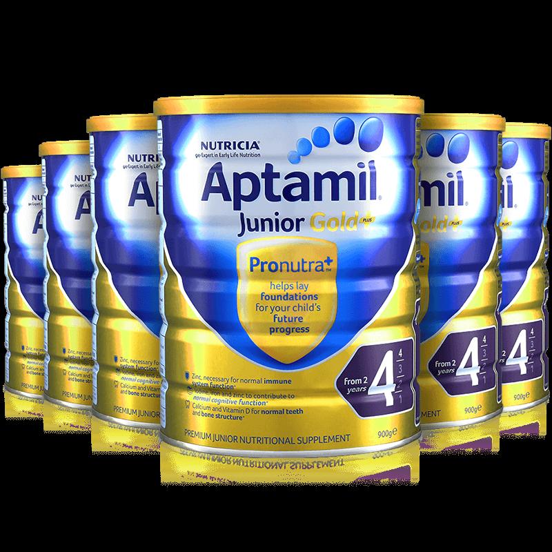 补货!限购两件!Aptamil爱他美金装奶粉3段/4段 900g