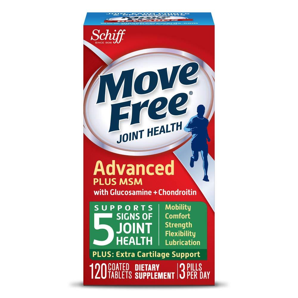 Schiff Move Free 维骨力 绿盒维骨力关节炎止痛配方120粒