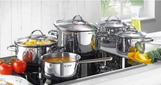 仅限今日!#亚马逊海外购#WMF 福腾宝 Gala Plus系列 不锈钢锅具5件套