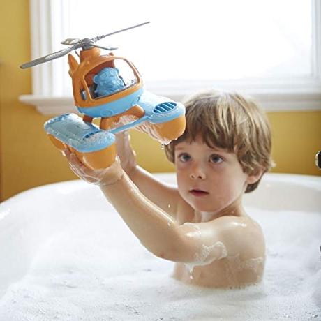 六一礼物首选!#亚马逊海外购#Green Toys 水上直升飞机 儿童玩具