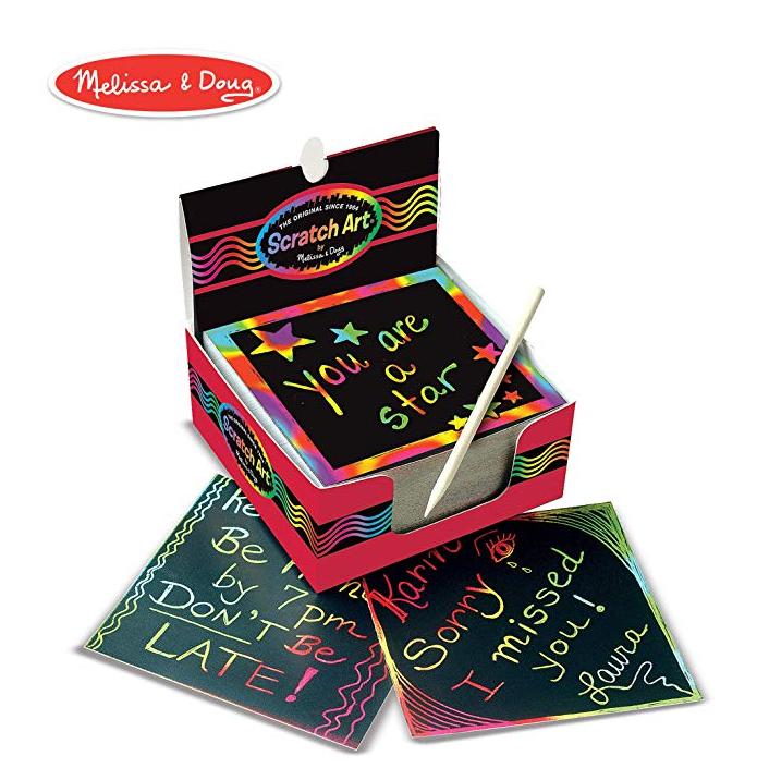4件0税!#亚马逊海外购#Melissa & Doug 梅丽莎和豆豆 迷你彩虹刮画纸125张