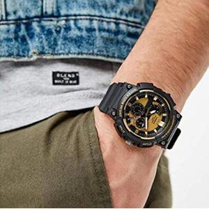 Casio卡西欧 MCW-100H 男士手表金色款