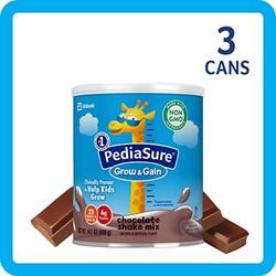 雅培小安素 Pediasure Grow & Gain儿童营养奶昔(2岁+) 巧克力味 3罐装