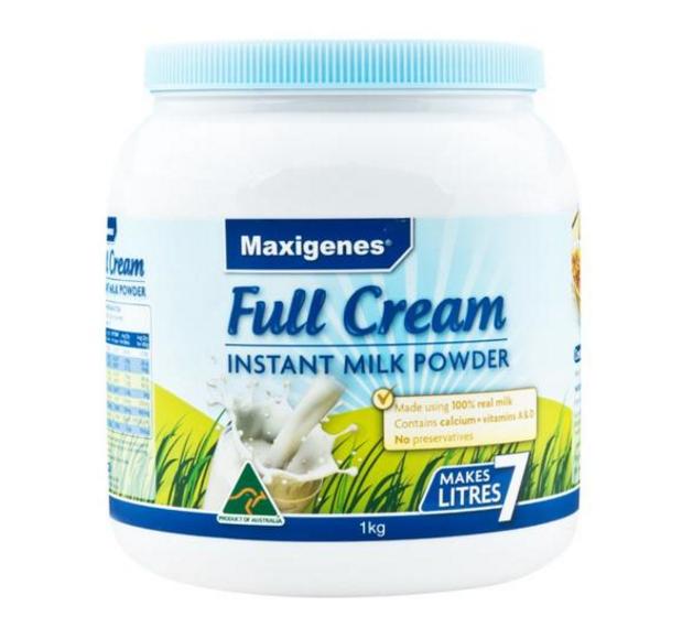 Maxigenes美可卓(蓝胖子)全脂高钙成人奶粉 1kg/瓶