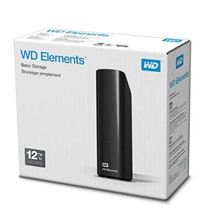 Western Digital西部数据 Elements 移动硬盘12TB