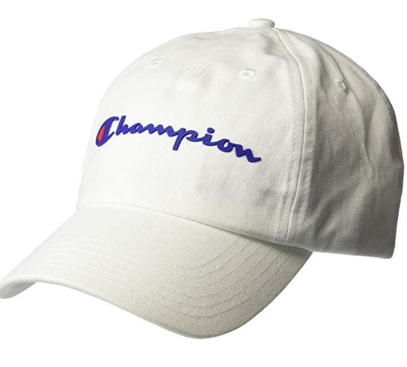 遮阳帽买了吗?Champion冠军 经典logo棒球帽白色