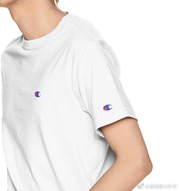 两件9折!Champion冠军日版经典小标T恤白色款L码