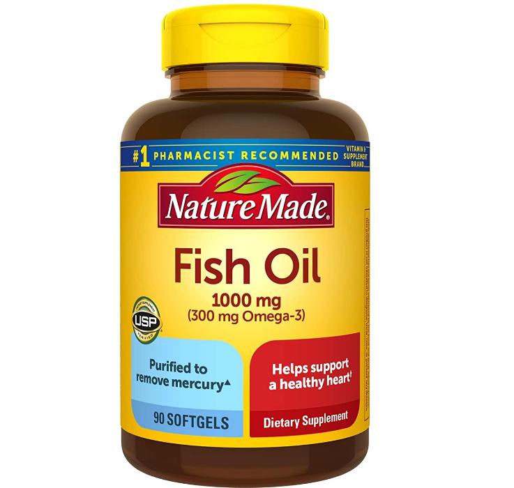 买二免一!Nature Made 天维美 Omega-3鱼油1000mg*90粒