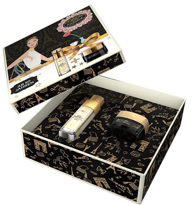 亚马逊定制礼盒套装!L'Oréal Paris 巴黎欧莱雅 金致臻颜 黑松露礼盒