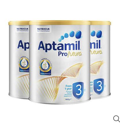 包邮包税!Aptamil爱他美 白金版奶粉 3段 900g*3罐装