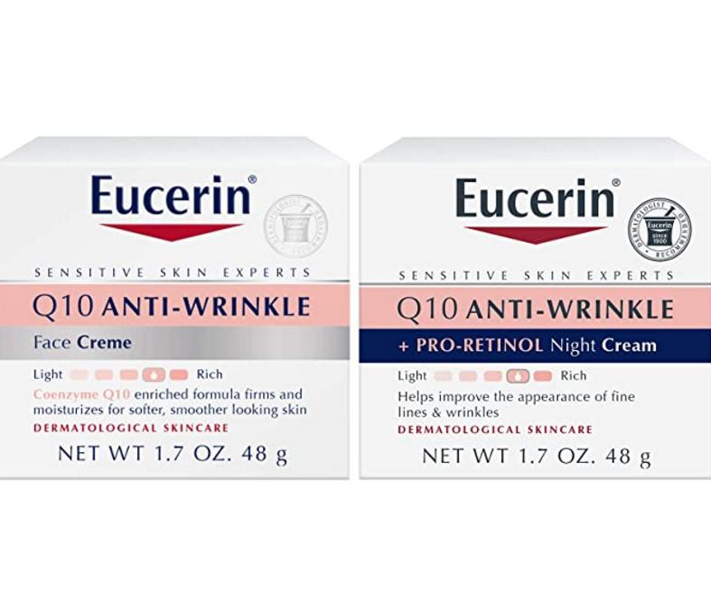 Eucerin优色林 Q10 抗皱保湿日霜+晚霜套装48g*2