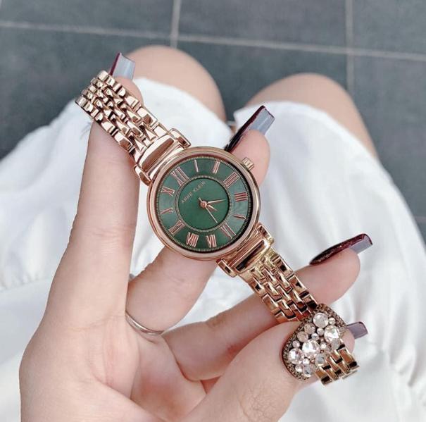 Anne Klein AK/2158GNRG 女士墨绿色腕表