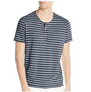 Calvin Klein Jeans Henley男士条纹短袖亨利衫